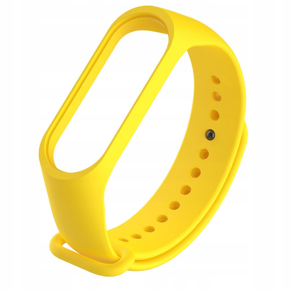 Silikonowy inteligentny żółty pasek do zegarka