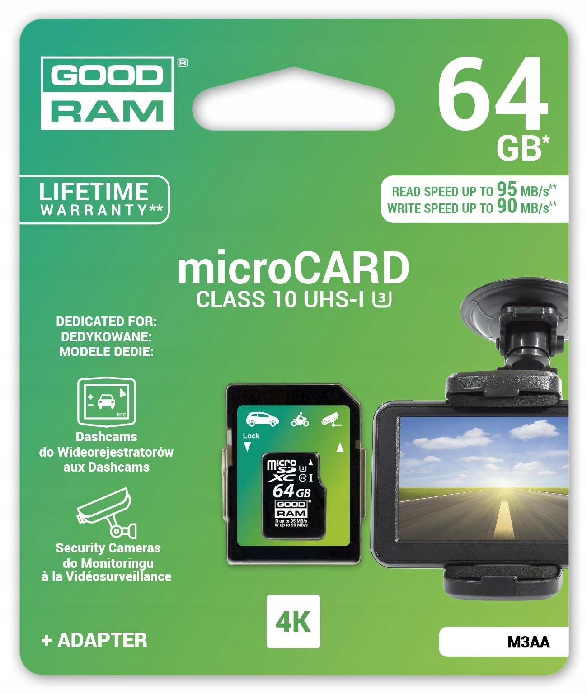 Karta Pamieci Microsdxc Goodram 64gb Mlc U3 Uhs I 7425324729