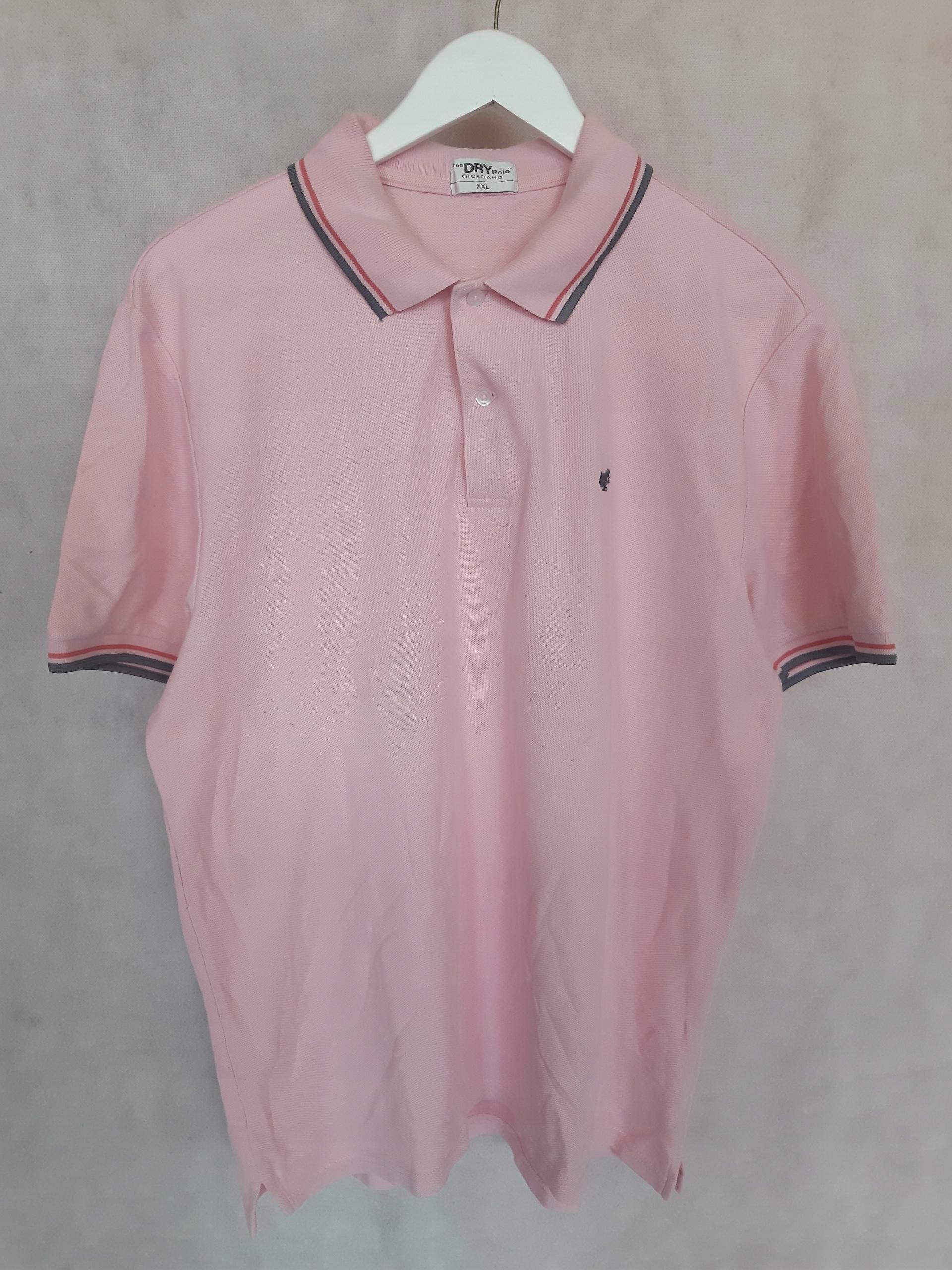 Koszulka polo męska Giordano różowa r. XXL R4