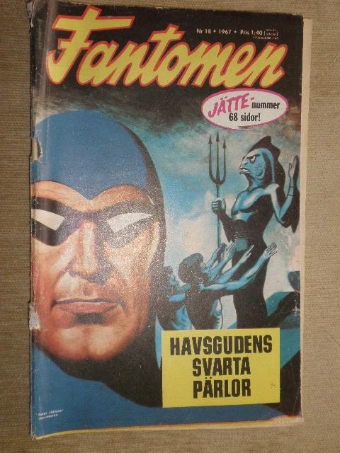 WYPRZEDAŻ KOMIKS FANTOMEN Nr.18 1967r. SWEDEN