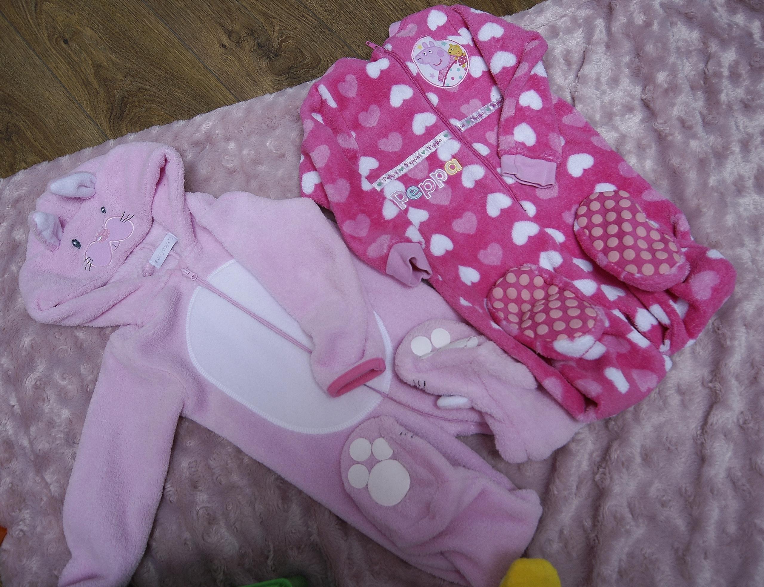 super ciepłe piżamy dla dziewczynki 12-24m