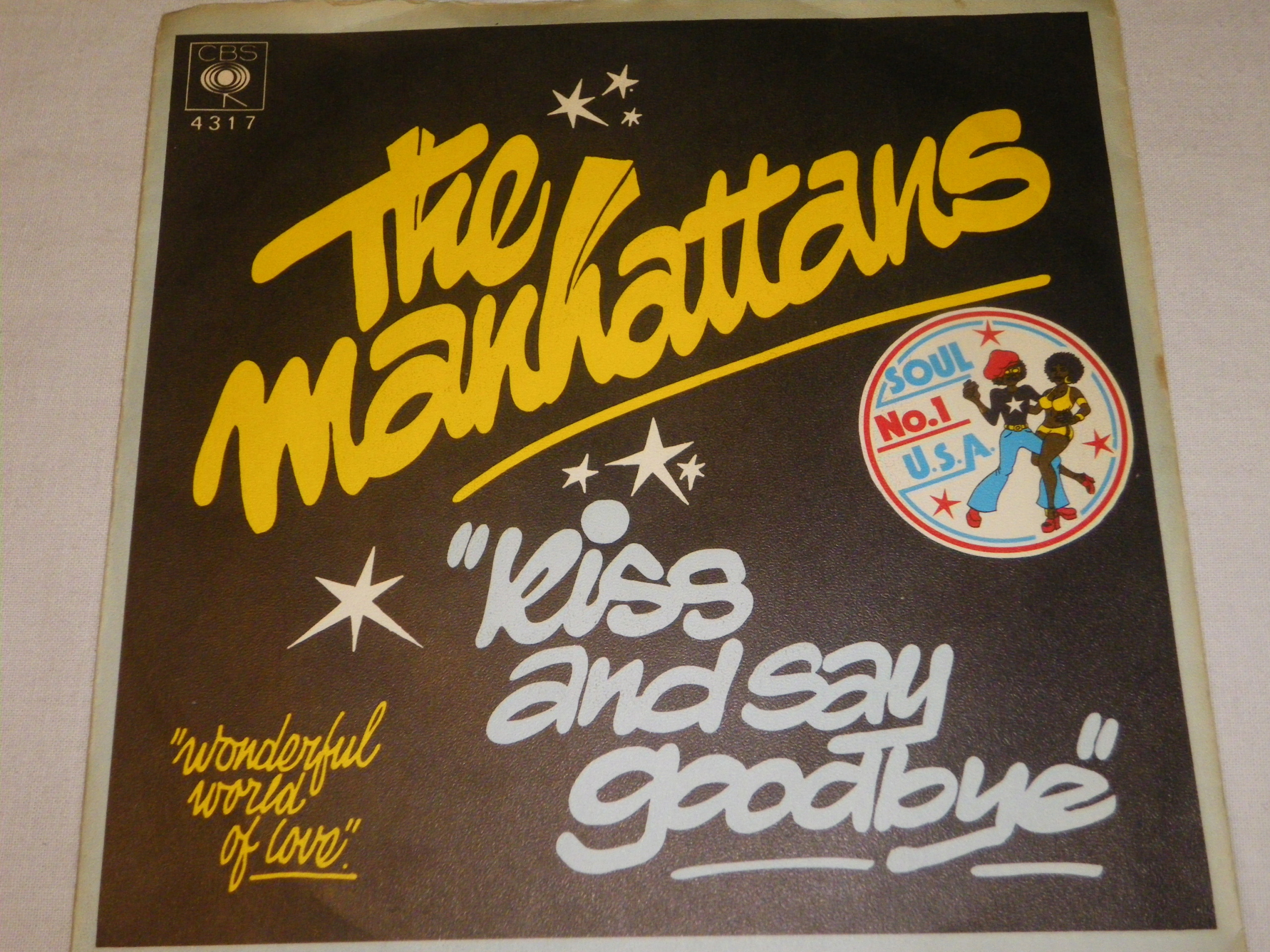 The Manhattans- Kiss and Say Goodbye SP 7''