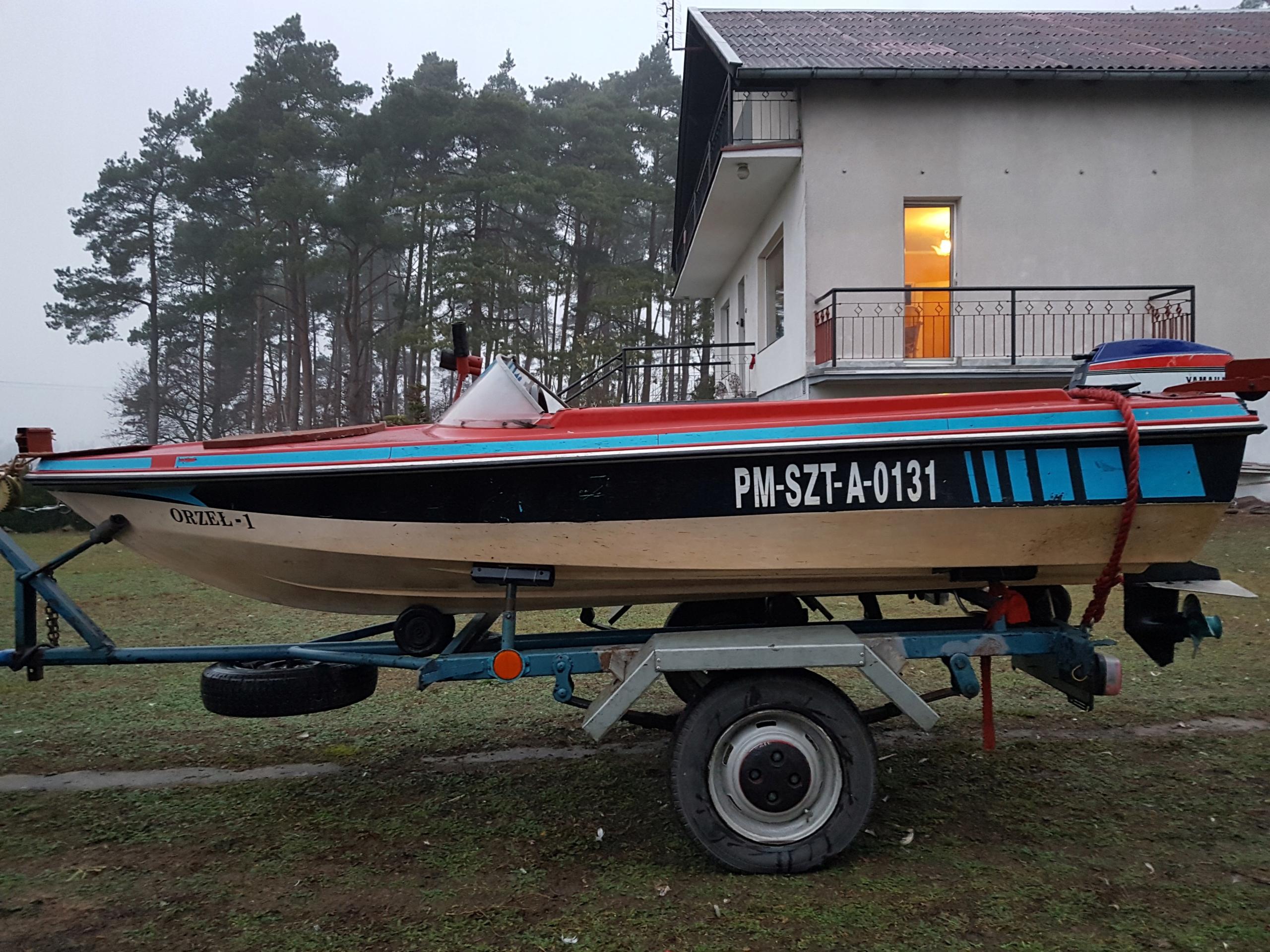 łódź wędkarska motorowa