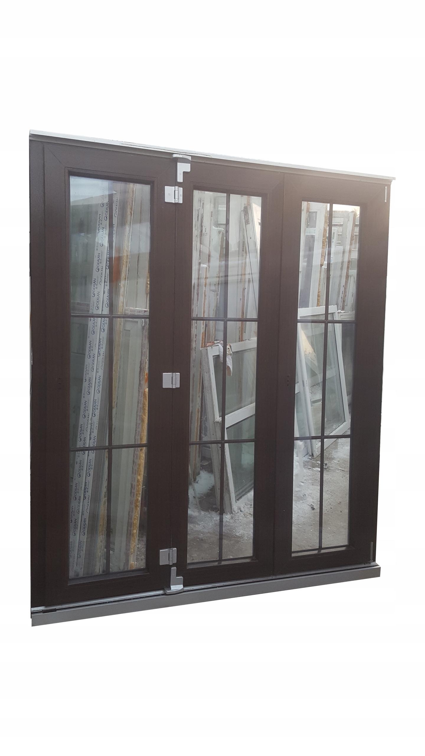 Drzwi Tarasowe Harmonijkowe Przesuwne Pcv 180x204