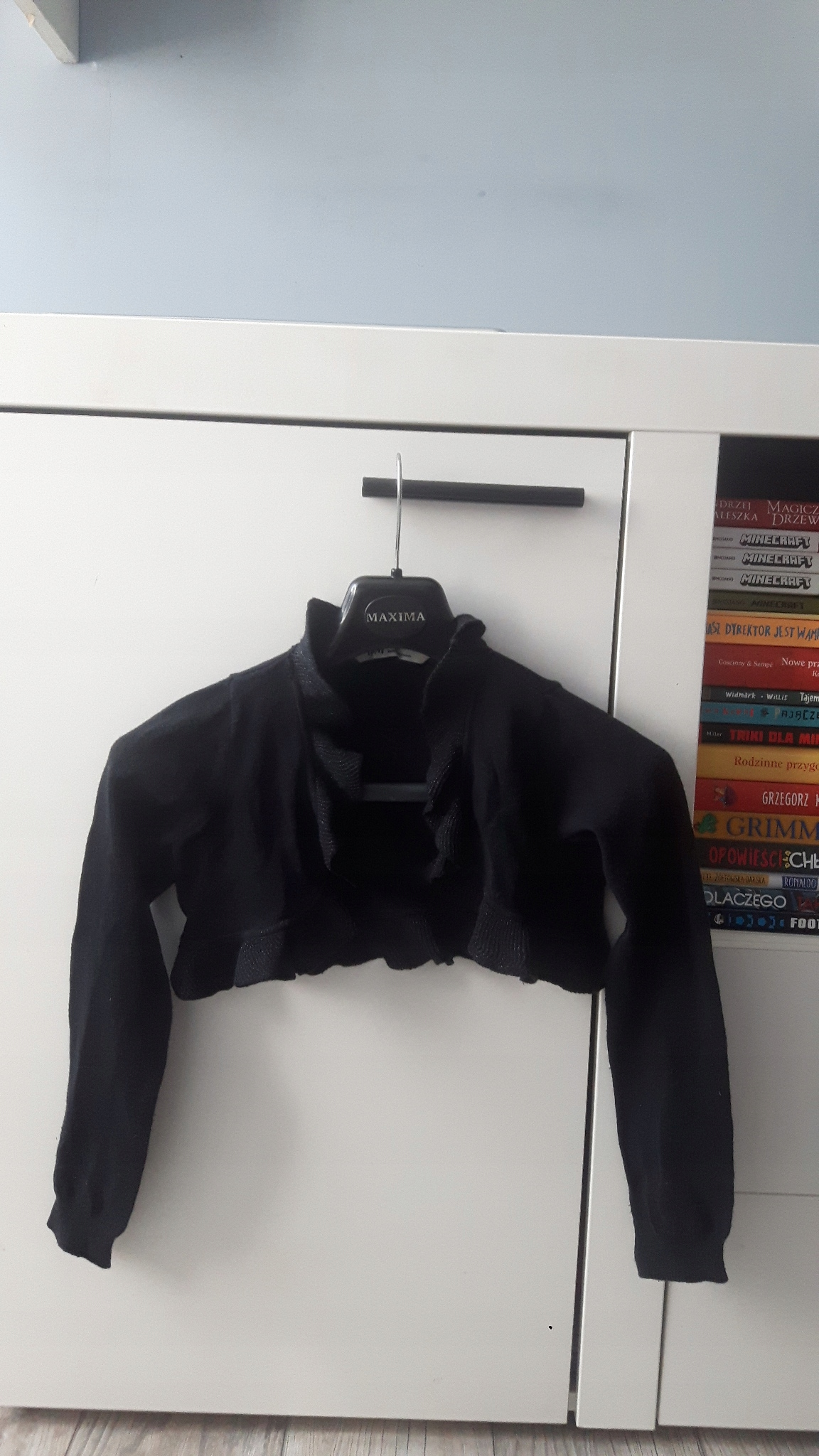 H&M eleganckie mieniące bolerko 110/116