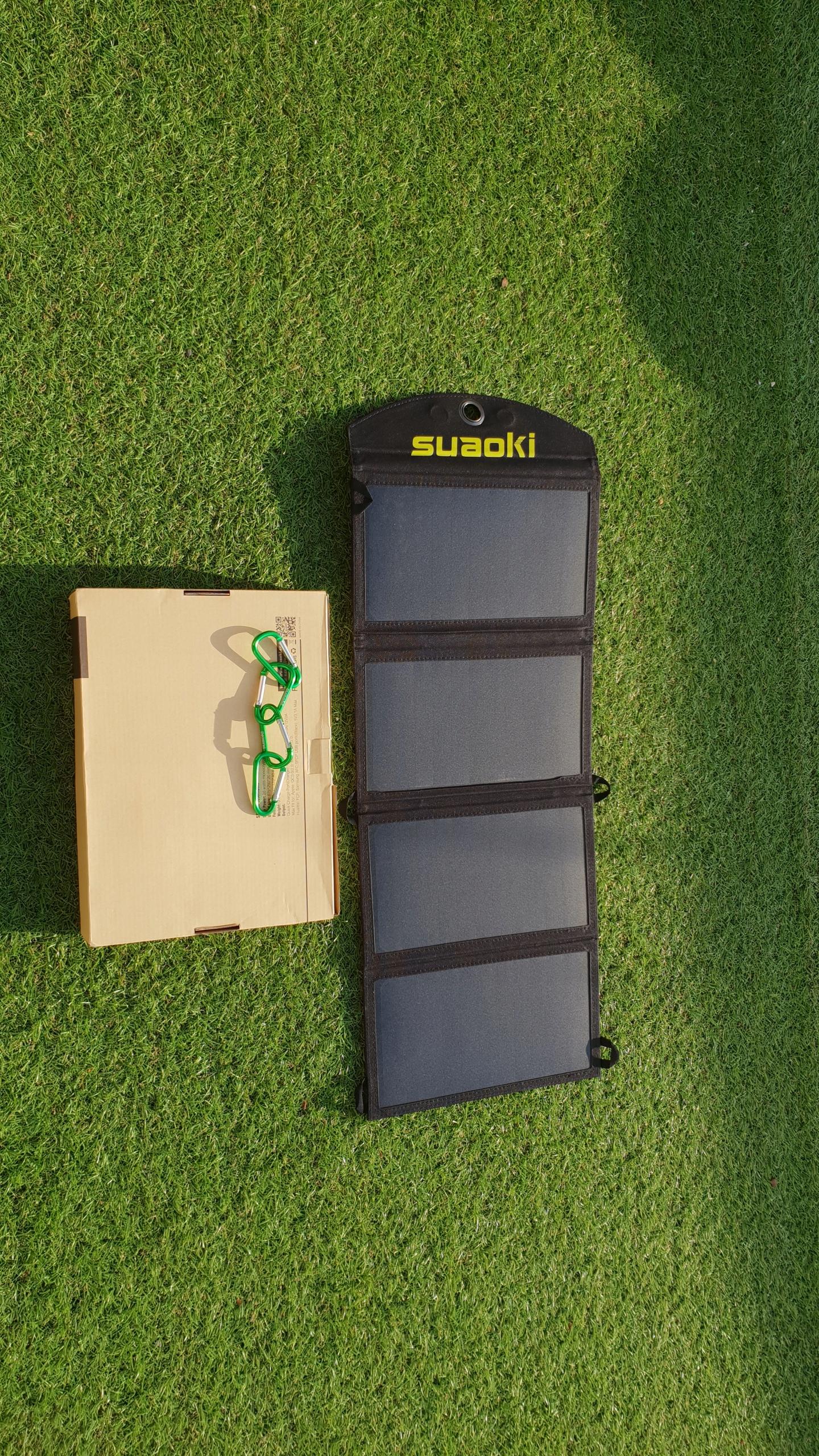 SUAOKI ładowarka panel słoneczny 2xUSB 25W