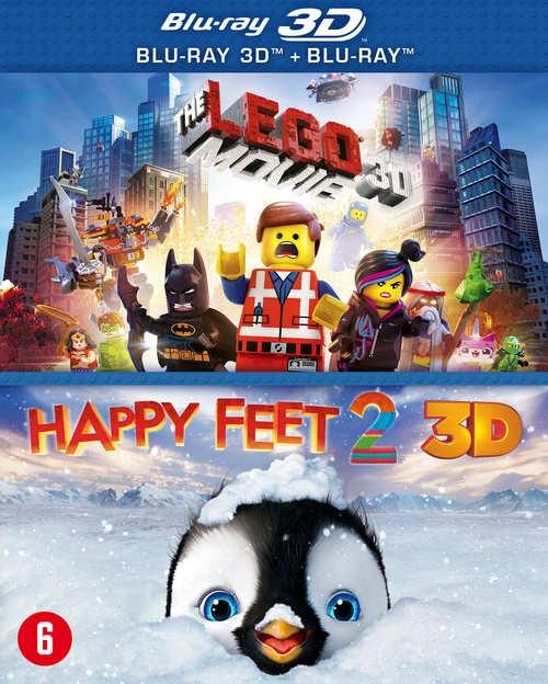 BLU-RAY Animation - Lego Movie + Happy.. -3D- .. F