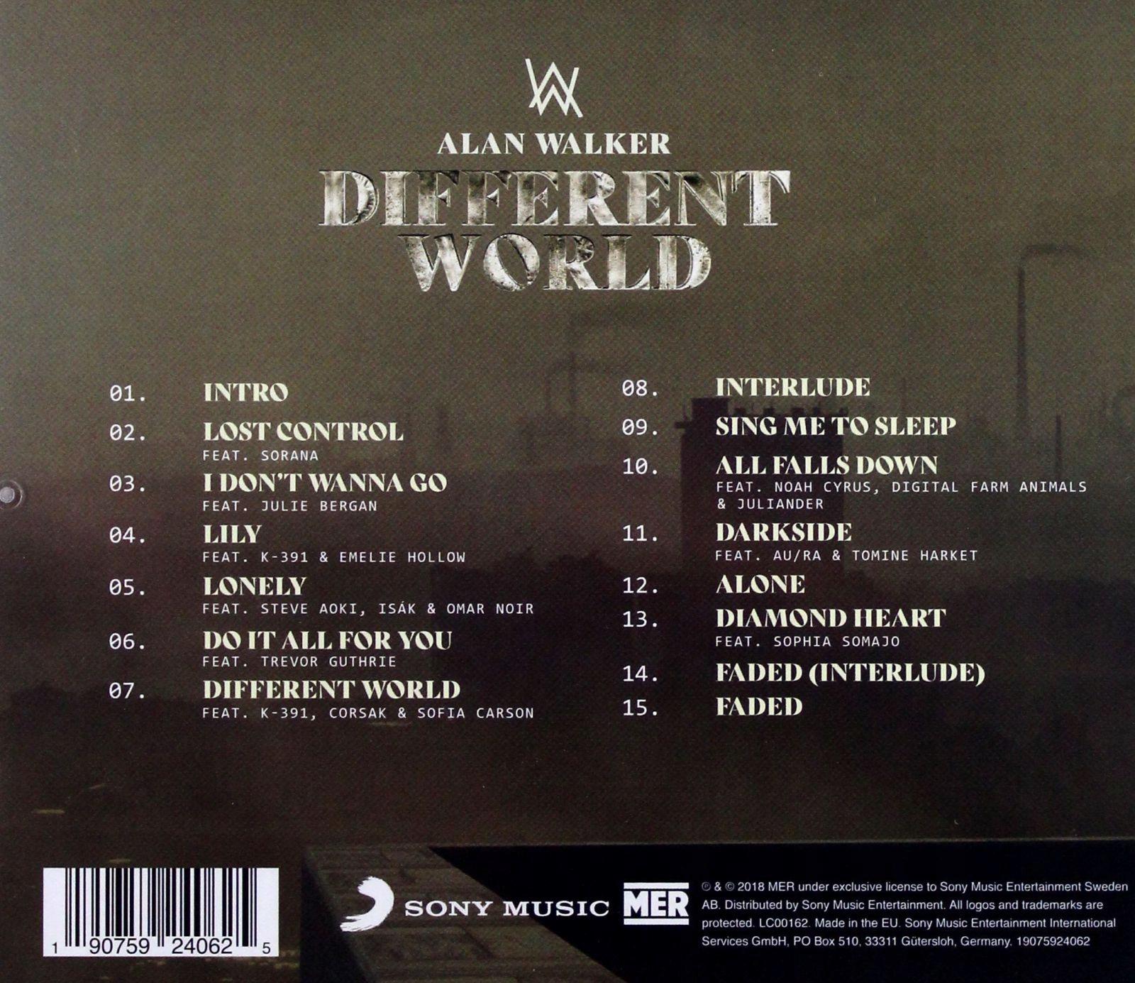 ALAN WALKER: DIFFERENT WORLD [CD]