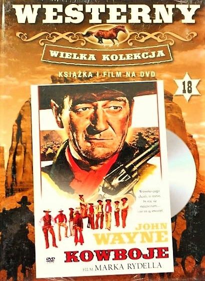 KOWBOJE - DVD + KSIĄŻKA - NOWY w FOLII