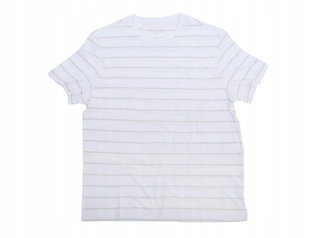Calvin Klein t-shirt w paski z logo M