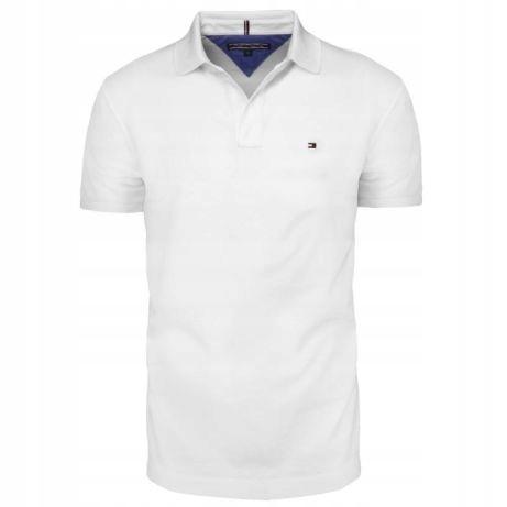 Koszulka Polo - TOMMY HILFIGER - roz. L biała