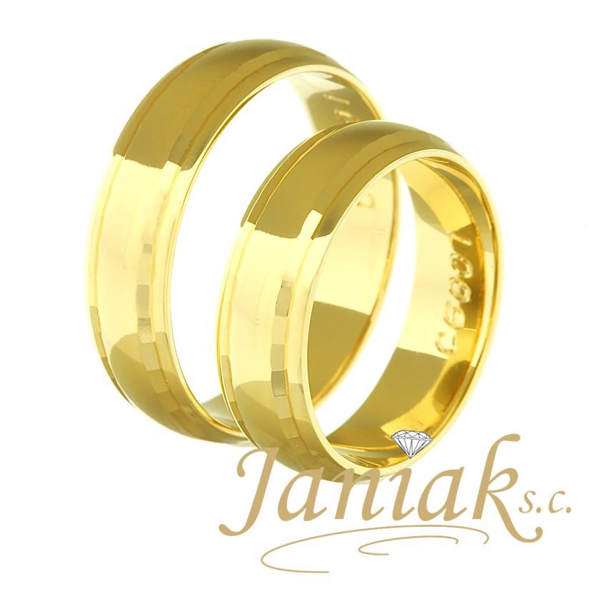 4c2752552b6a0c Obrączki złote Janiak C6001 5,5mm STANDARD - 7367037035 - oficjalne ...