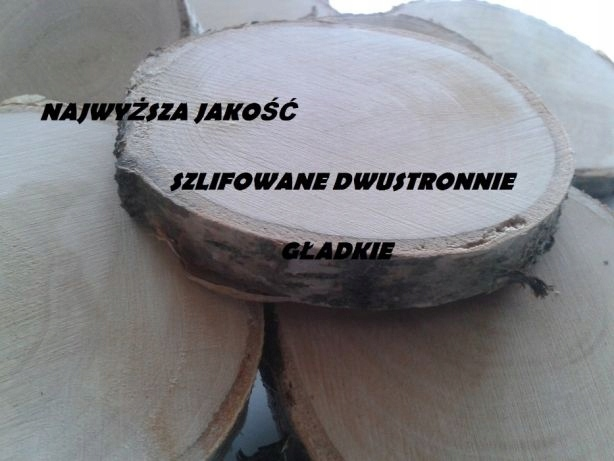 Plastry brzozy drewna 13-16cm szlifowane
