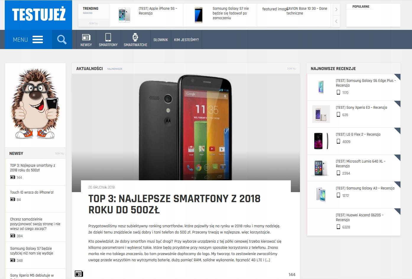 Artykuł sponsorowany na testujez.pl - Dofollow