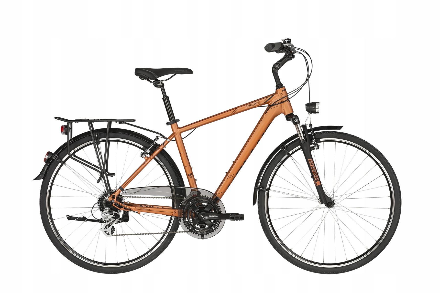Rowery trekkingowe Kellys Carson 30 Pomarańczowa S