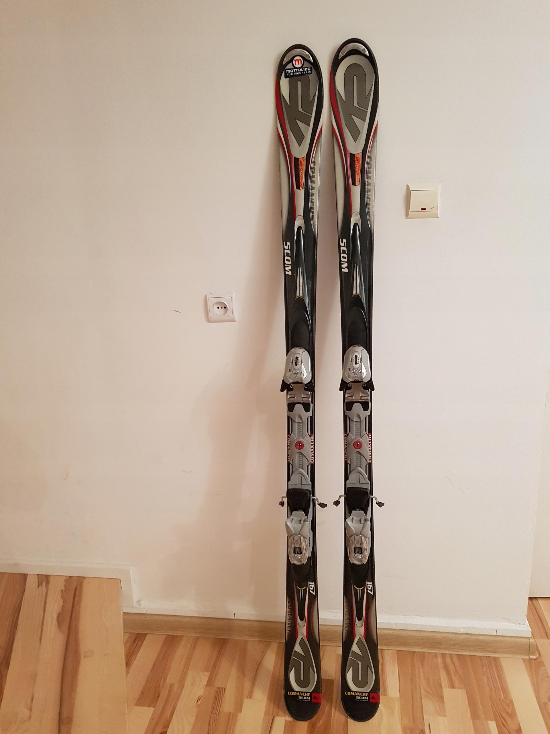 Narty K2 COMANCHE 5COM 167 cm+ MARKER 10.0