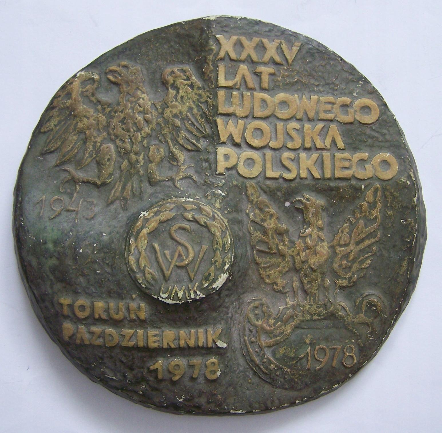Plakieta/medal XXXV lat LWP 1978 sygn.W.Graszk