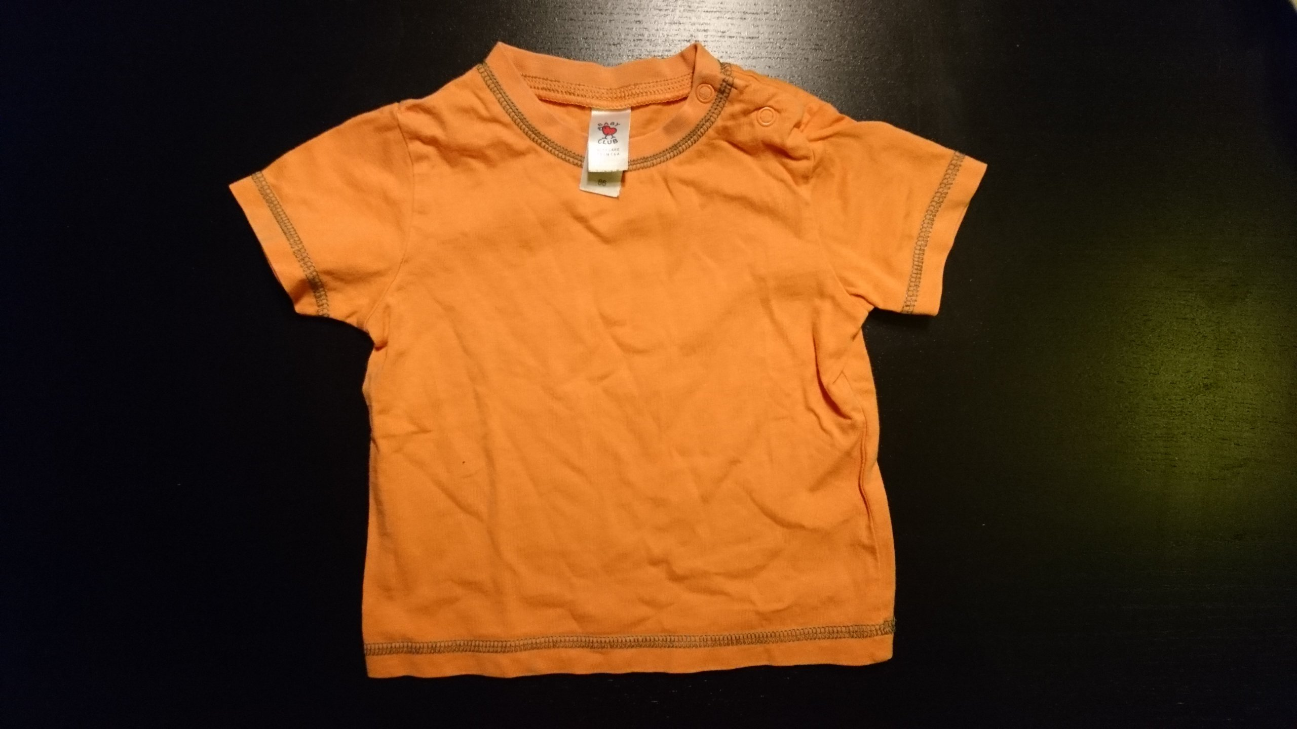 Koszulka r.86 baby club c&a pomarańcz