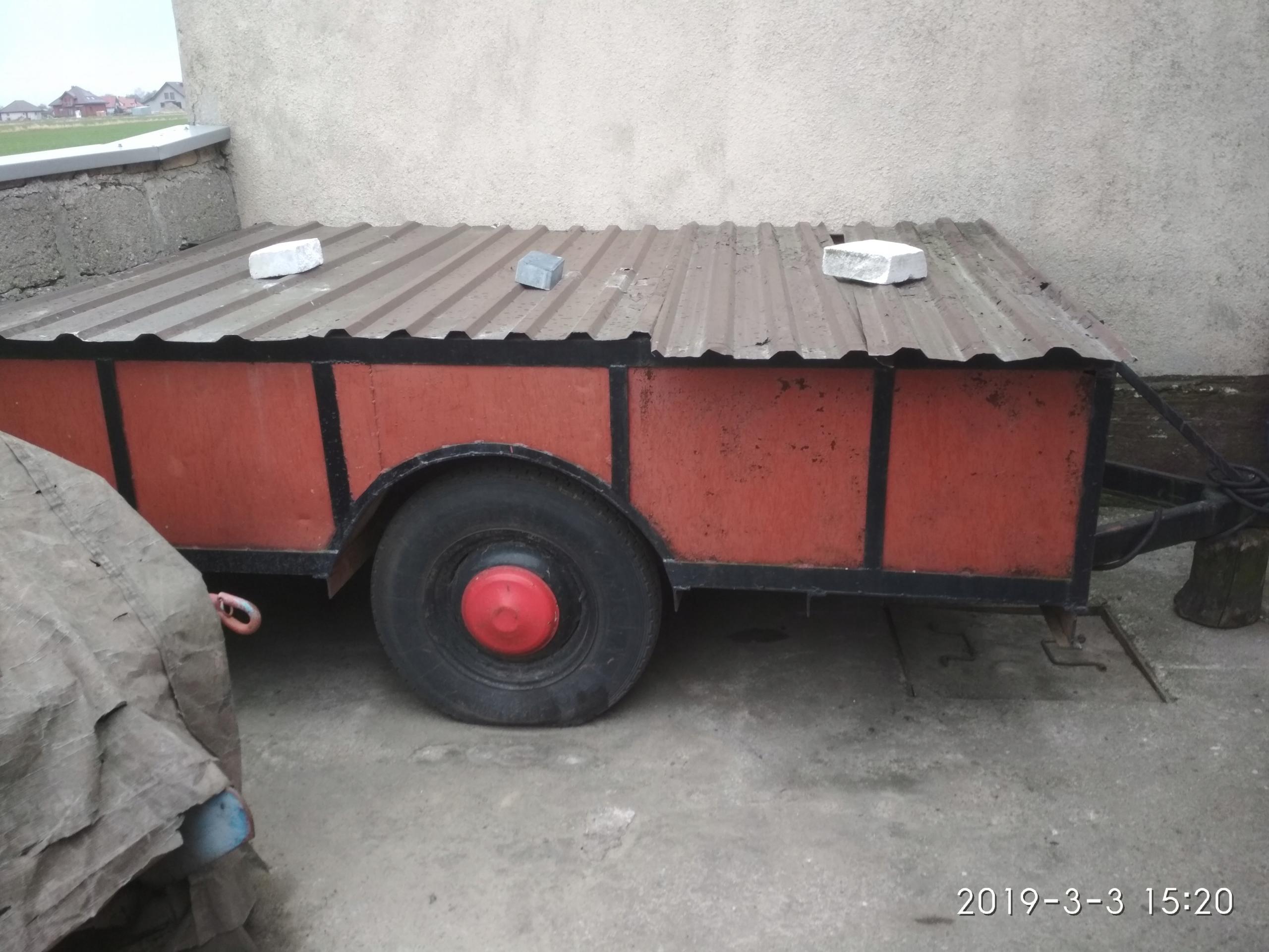 Dwukołówka przyczepka rolnicza ciągnik