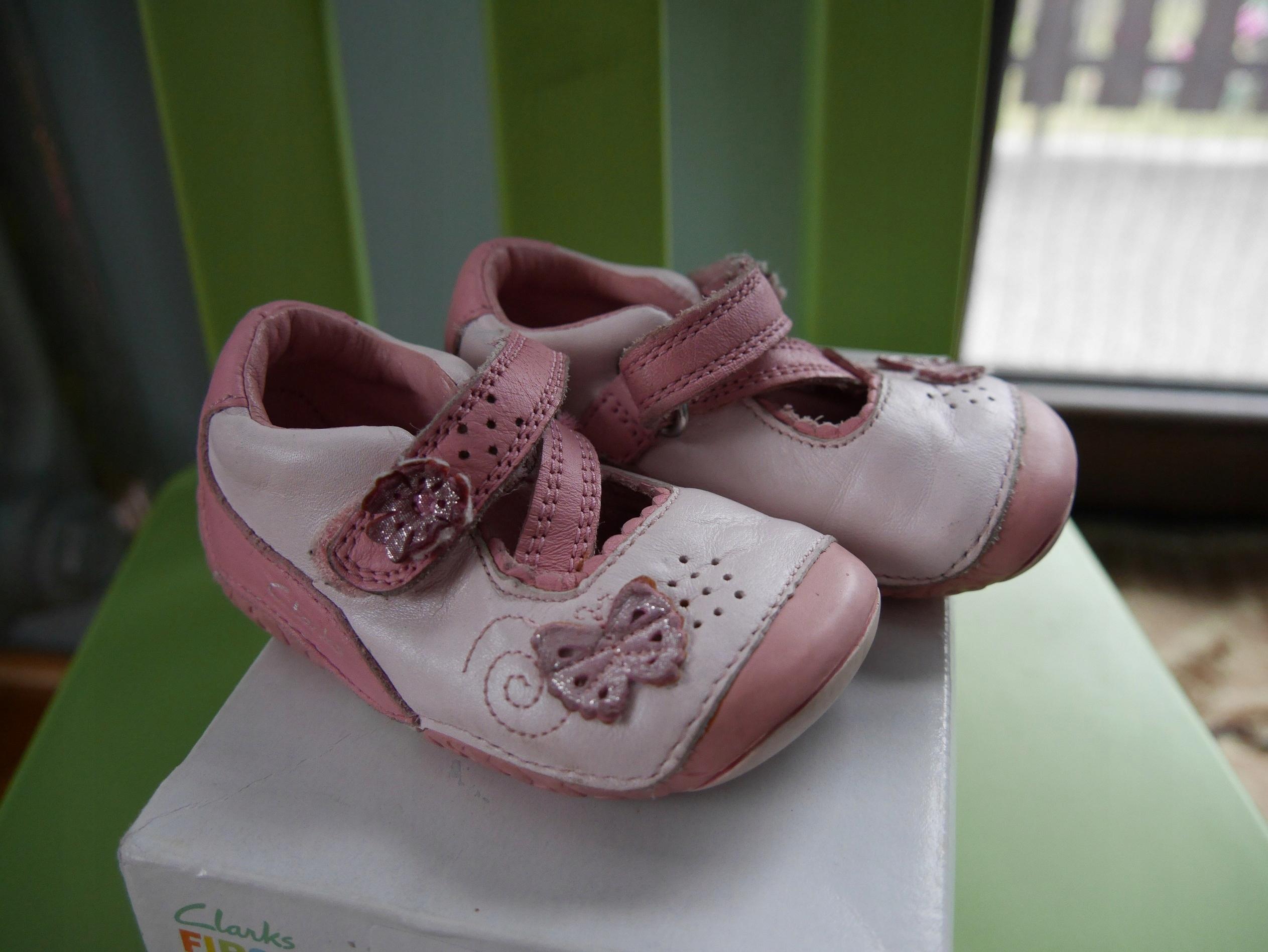 Pierwsze buciki, buty Clarks, r. 18, dł.12 cm