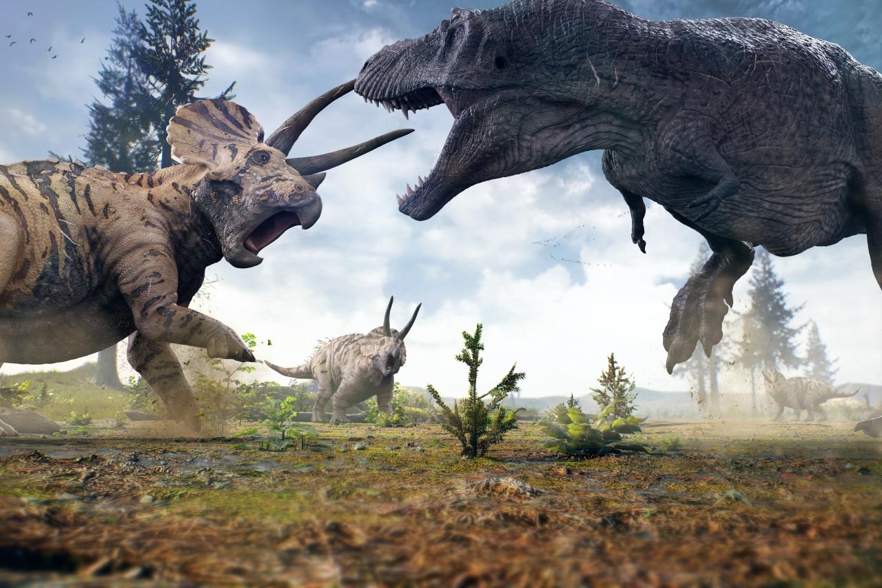 Fototapeta dla dzieci dinozaur 135x200 cm - 212g