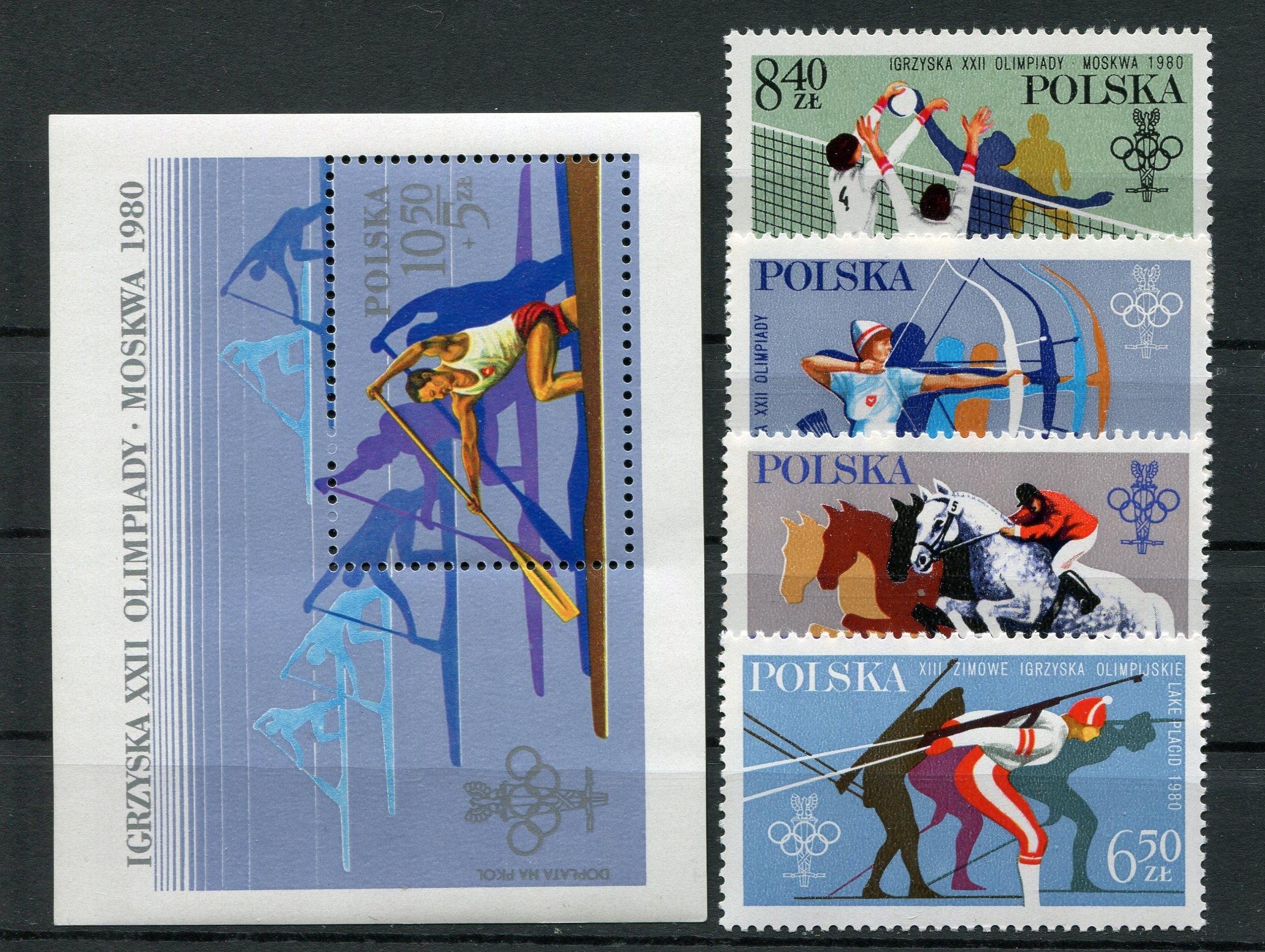 XIII i XXII Igrzyska Olimpijskie Fi2526-29**R 1980