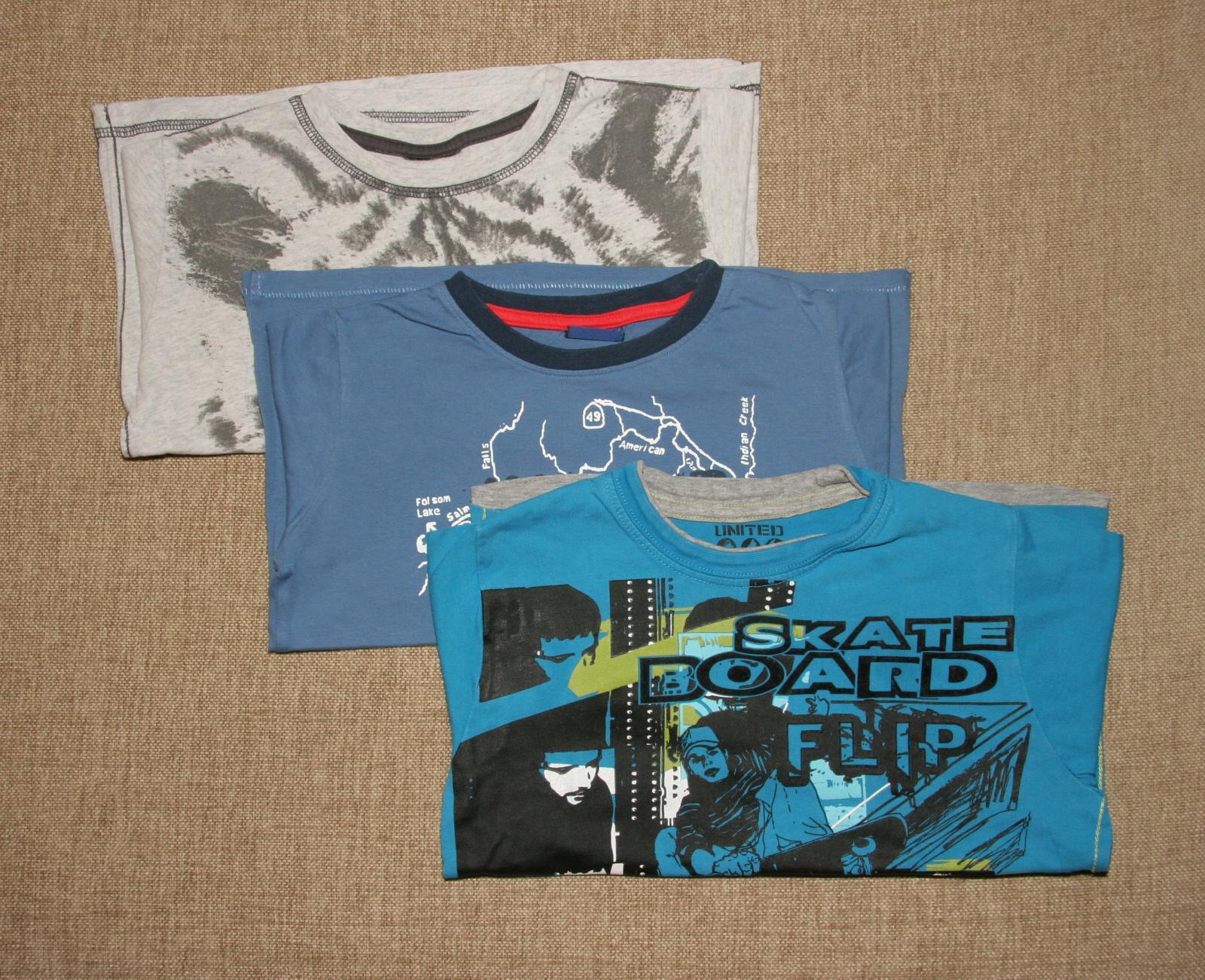 3 x koszulka t-shirt z długim rękawem 116cm