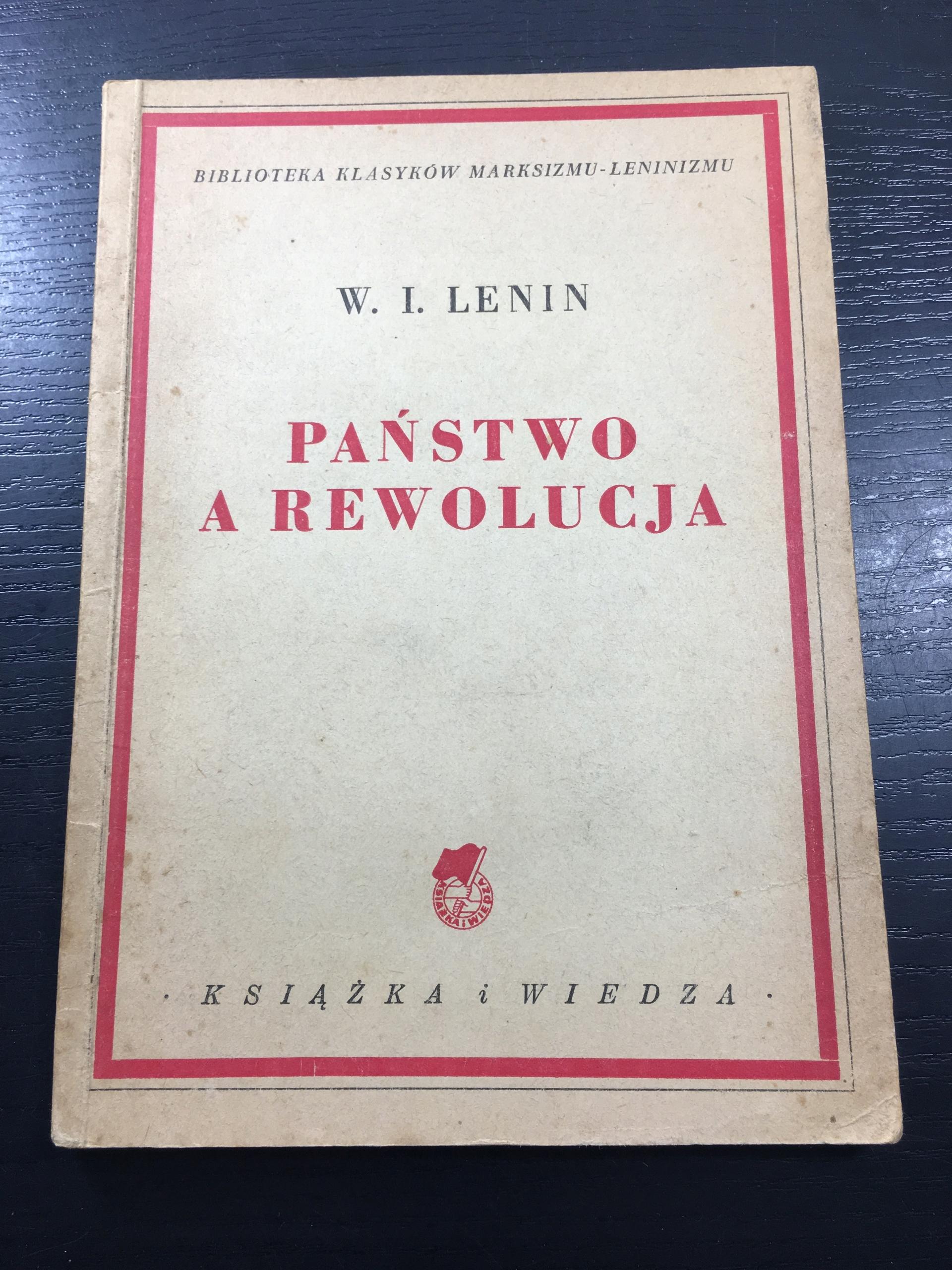 LENIN PAŃSTWO A REWOLUCJA 1950