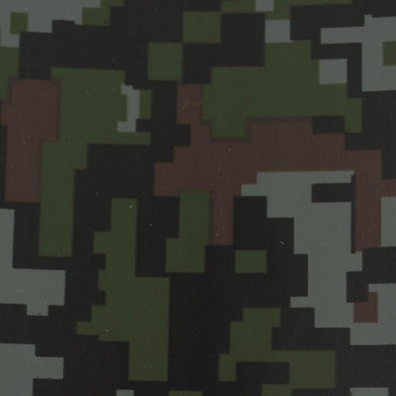 Folia rolka kamuflażowa ciemne piksele 1,52x30m