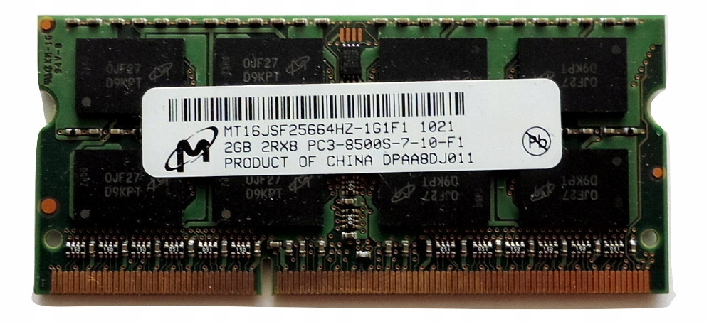 Ram DDR3 2GB MT 1066MHz PC3-8500S