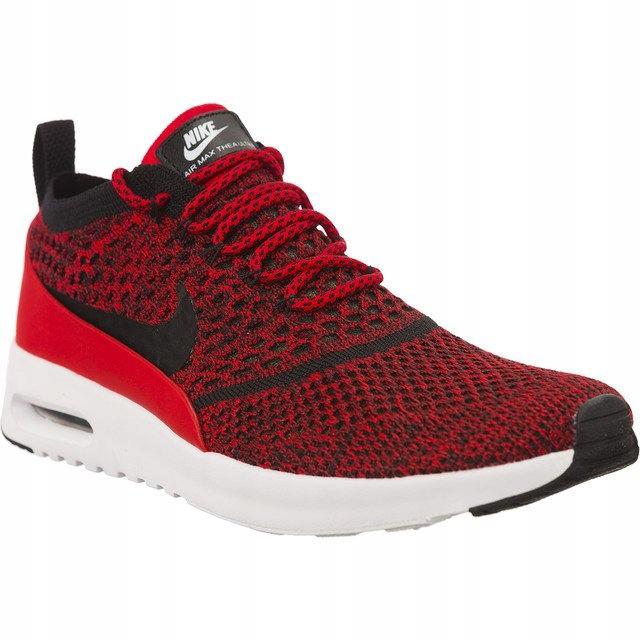 Czarne Czerwone Tekstylne Buty Nike r.36