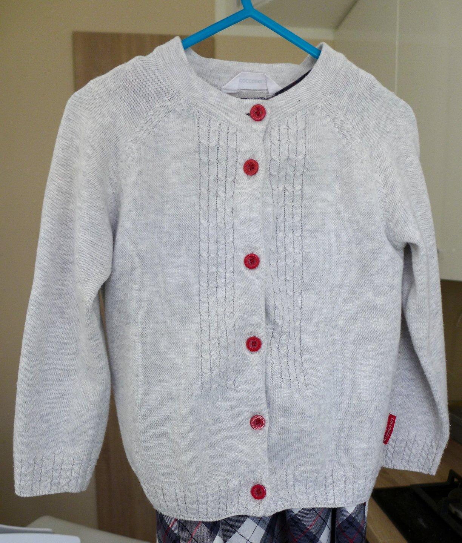 Szary sweterek Coccodrillo r.104