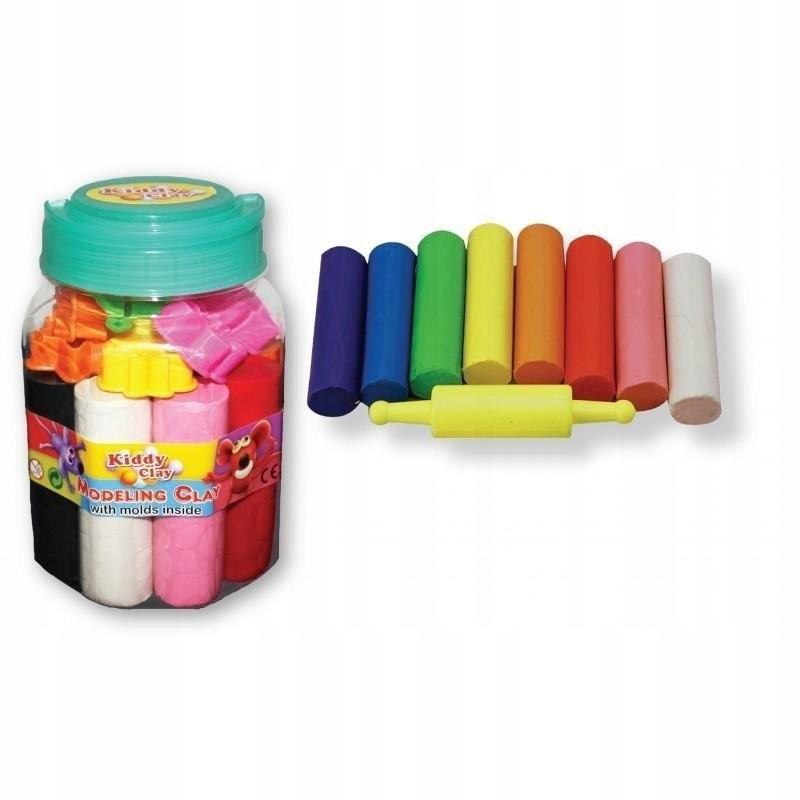 Plastelinowy box 8 kolorów 550g NARA