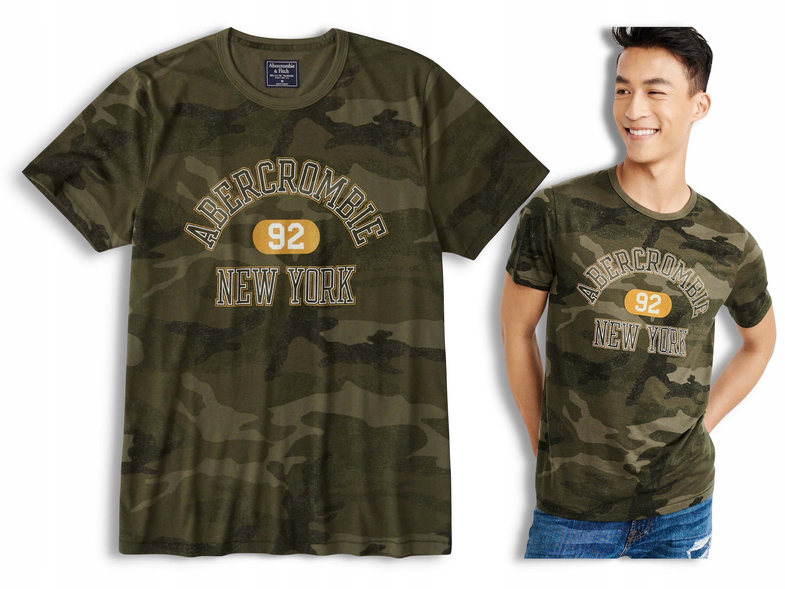 ABERCROMBIE Hollister T-shirt Koszulka Logo USA M