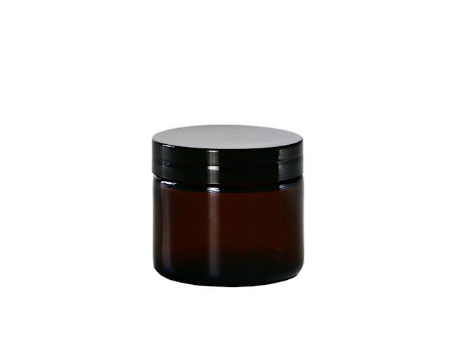 Słoiczek kosmetyczny szklany 60ml brązowy