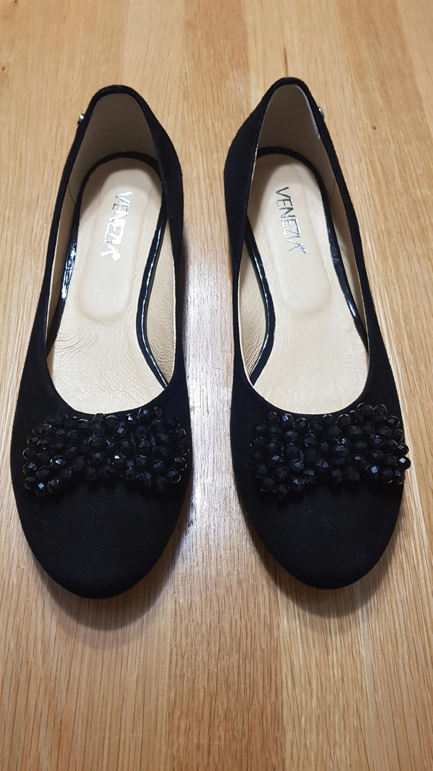 VENEZIA - baleriny czarne rozmiar 40 - NOWE !