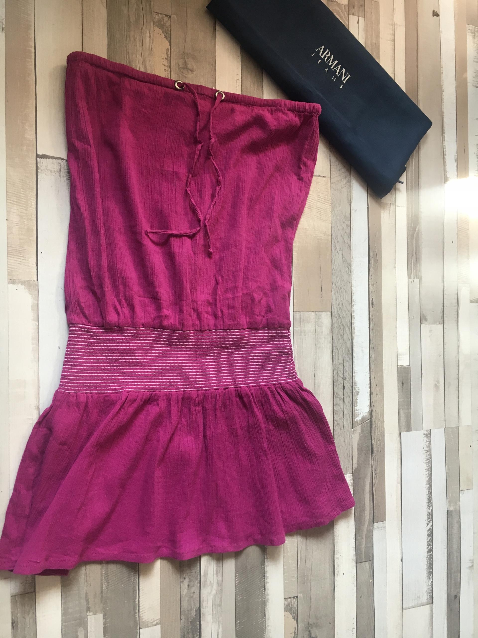Armani Jeans sukienka odkryte ramiona logo mini