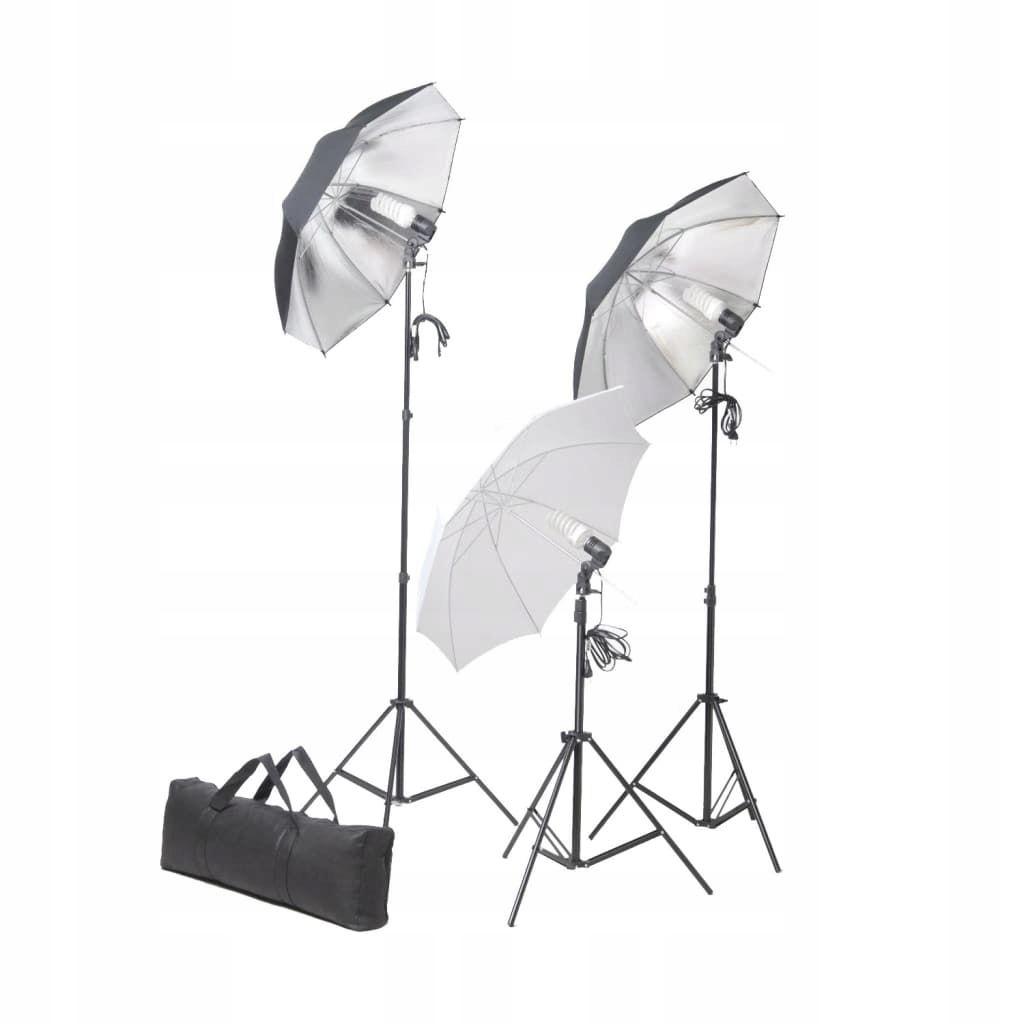 Zestaw oświetleniowy do studio ze statywami i para
