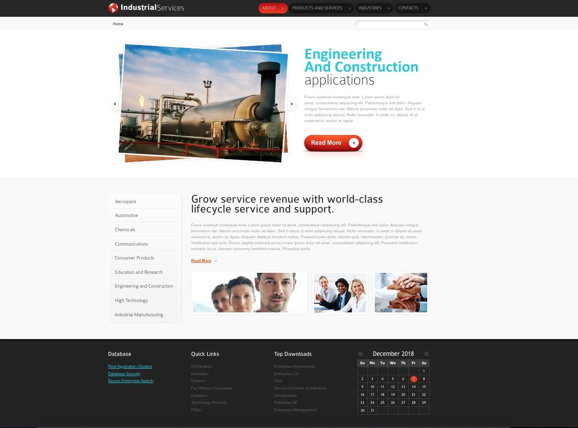 Szablon na stronę - HTML5/CSS3/Javascrpt