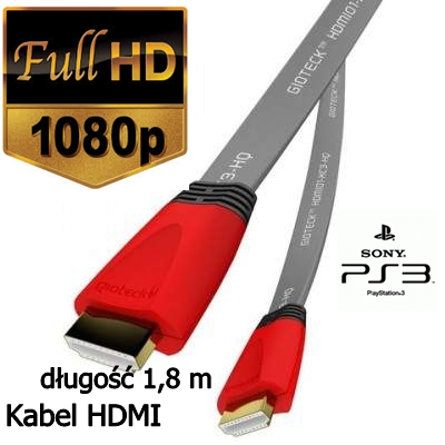 Gioteck XC-3 kabel HDMI PS3 SONY HQ High Speed