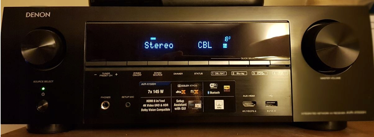 Amplituner Denon AVR-X1500H 4K Faktura gwarancja !