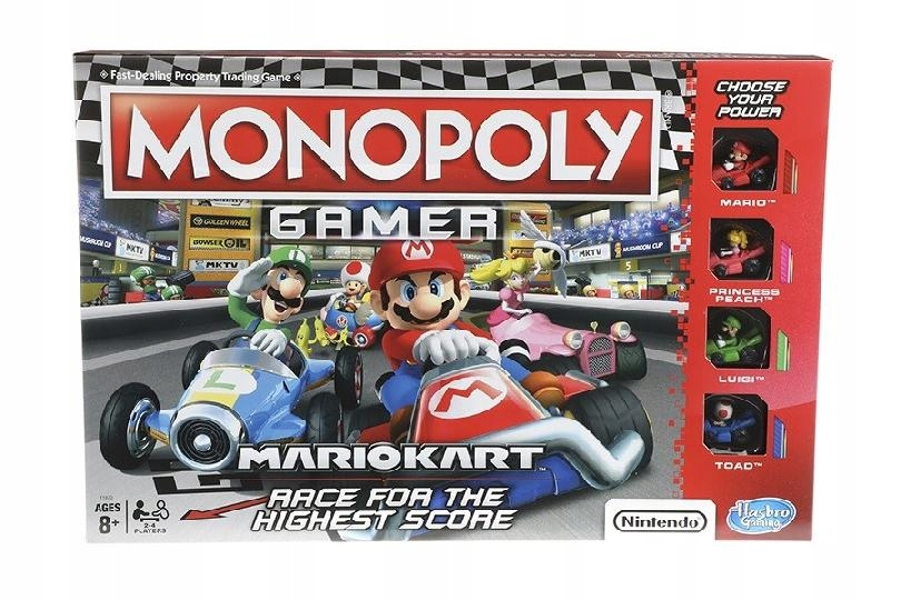 HASBRO Gra Monopoly Gamer Mario Kart