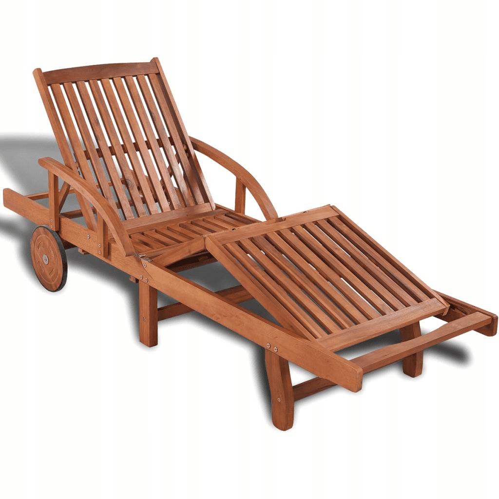 42592 vidaXL Leżak z drewna akacjowego