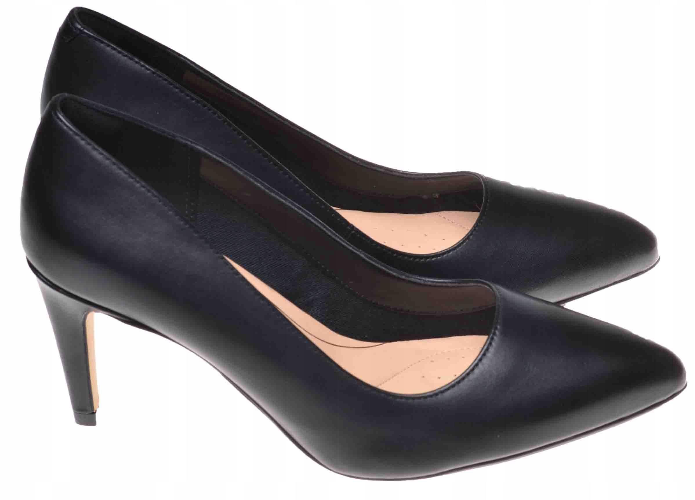 SZPILKI SZPIC CLARKS LAINA REA Black Leather 39,5