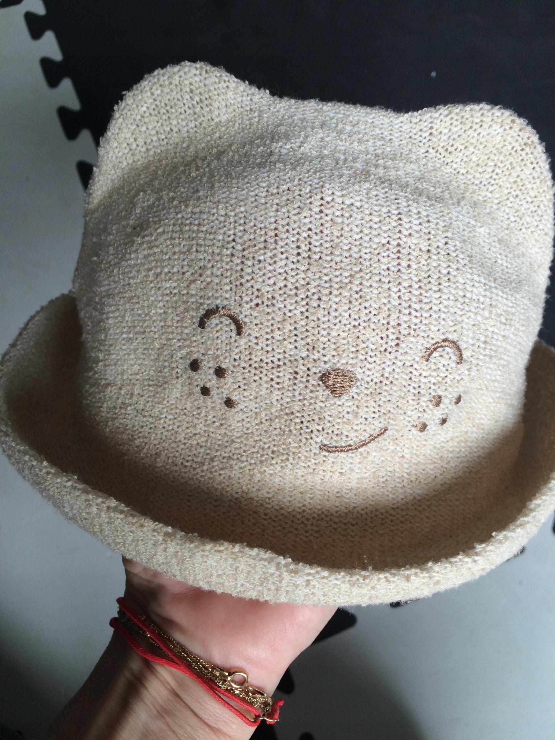 ZARA kapelusz z buzią uszami 80