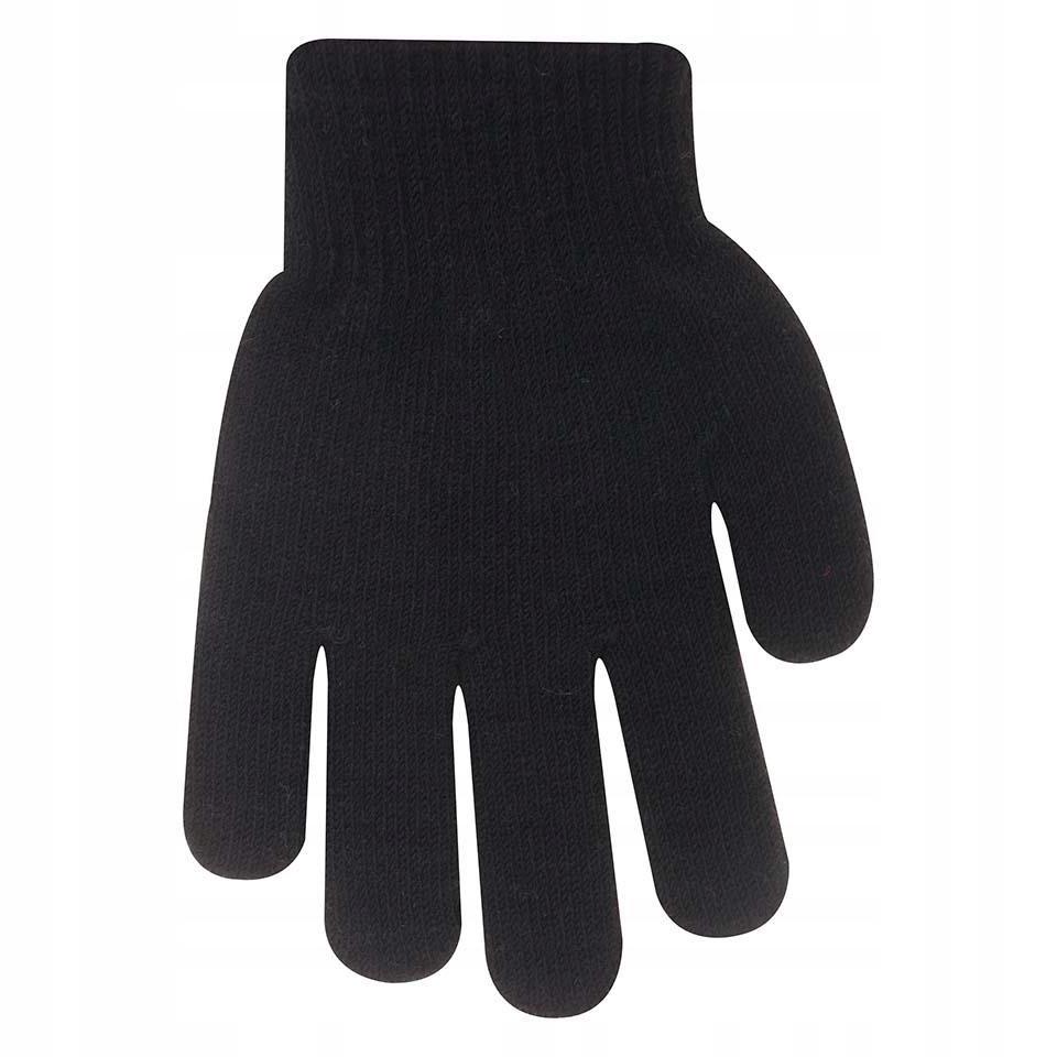 Rękawiczki ocieplane czarne 16 cm