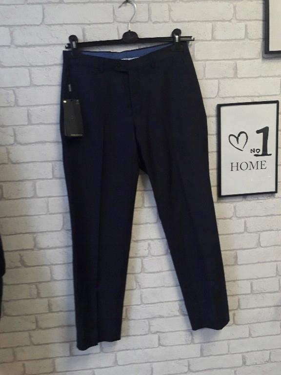 Massimo Dutti spodnie w kant granat 38