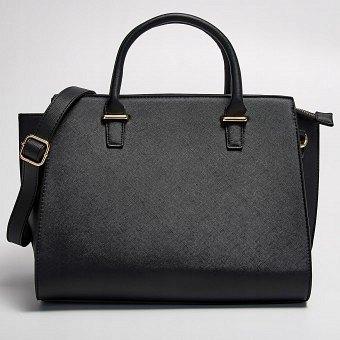 tania wyprzedaż usa wysoka moda klasyczny TORBA SHOPPER BAG SINSAY CZARNA KUFER PASEK