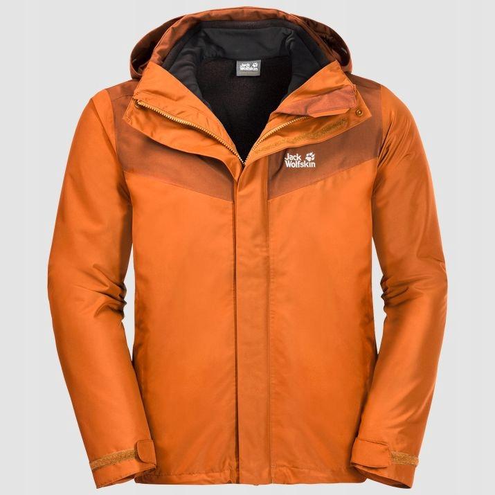 Kurtka Jack Wolfskin Arland 3w1 orange r. M