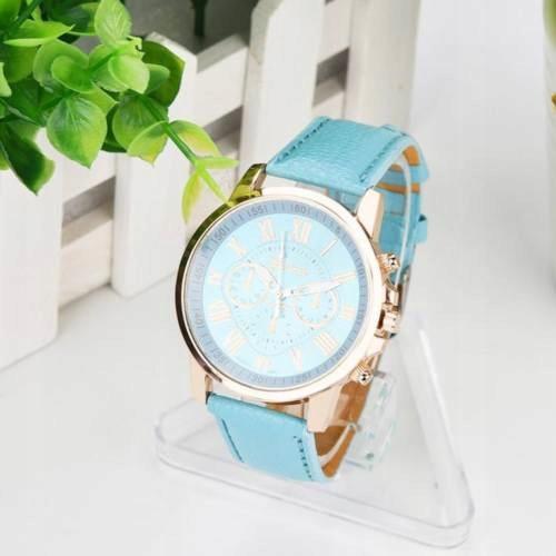 Zegarek Geneva damski w kolorze niebieskim